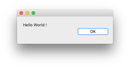 Hello World dialog