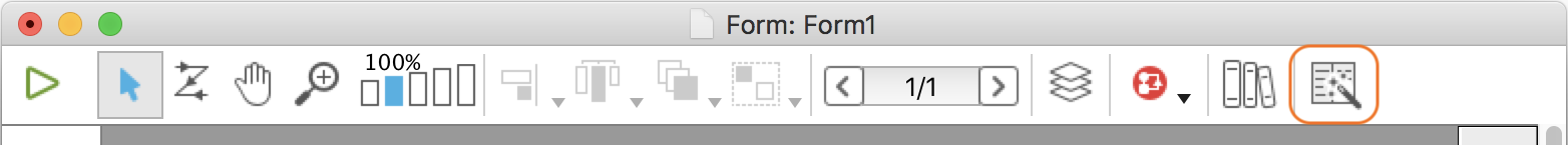 Form editor toolbar